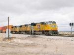 UP 5138 heads up an EB intermodal at 1:28pm