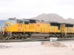 UP 4531 #2 power in WB intermodal at 2:18pm