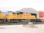 UP 4375 #4 power in WB intermodal at 2:18pm 