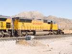 UP 4734 #3 in WB intermodal consist of empties