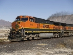 BNSF 1018 as lead in WB work train