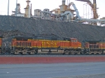 BNSF 5399 #2 power in EB coal train at 7:24am crew change