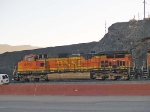 BNSF 5408 lead in an EB coal train at 7:24am crew change