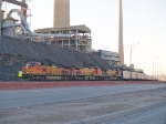 BNSF 5408 leads an EB coal train at 7:24am after crew change