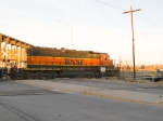 BNSF 6371 leads light power EB at 7:14am