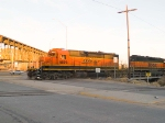 BNSF 6895 #2 in light power move at 7:14am