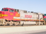 BNSF 761 #2 power in EB manifest (tied down) at 4:18pm