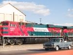FXE 4641 leads an EB grain train at 4:10pm