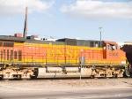 BNSF 4860 #3 power in EB grain train at 4:10pm