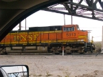 BNSF 5313 leads a WB grain train at 7:56am