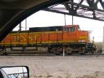 BNSF 5313 leads a WB grain train at 7:56am