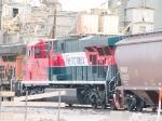 FXE 4638 #1 DPU in a WB grain train at 7:56am