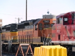 BNSF 7148 in the BNSF yard at 4:22pm