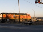 BNSF 7778 leads an EB grain train at 7:41am