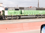 BNSF 9261 #2 in grain train