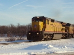 UP 9311 leads a westbound manifest