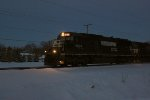 NS 6574 on the point of westbound Roadrailer train ZCHEM