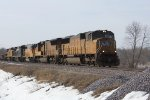 UP 4317 leads four others on MSSPR approaching Lannon Rd.