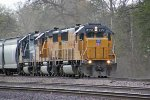 LTA-42's trio of EMD '60s eases down the yard lead