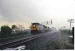 CSX 615 on Q111 in a heavy rain