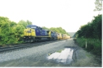 CSX 7823 east decends Sand Patch Grade