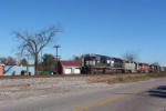 NS 2591 and WC SD45 head back with empties