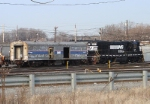 NS 57 & ex-Amtrak baggage car 1001