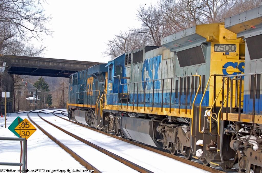 CSXT 7500 (C40-8) ex UP 9142 (C40-8) in K651-16