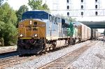 CSXT 5471(ES44DC) & GCFX 3054(SD40-2) ex CP 5608(SD40-2) on Q261-18