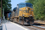 Q410 with CSXT 5355(ES44DC), CSXT 8808(SD40-2) ex CR 6382(SD40-2)and CSXT 8821(SD40-2) ex CR 6411(SD40-2)