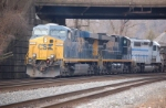 CSXT 5317 (ES44DC), CSXT 5367 (ES44DC) & GCFX 3080 (SD40-2) on Q438-09