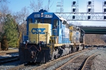 CSXT 8427 (SD40-2) & CSXT 8364 (SD40-2) on Q266, light power move