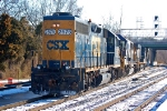CSXT 2575 (GP38-2), CSXT 8564 (SD50) & CSXT 5355 (ES44DC) make up Y361 this saturday morning