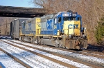 A pair of SD40-2's, CSXT 8445 & CSXT 8357 head Q370-16 off the old main line