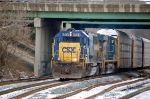 CSXT 8564 (SD50) & CSXT 5355 (ES44DC) leads Q261-17 west on track 1