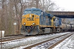 CSXT 5394 (ES44DC) & CSXT 7866 (C40-8W) on Q438-16 heading towards Baltimore