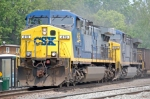 CSXT 419 (AC44CW) & CSXT 515 (AC44CW) lead this empty coal train up the Old Main Line