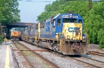 A trio of SD50's on the rock runner, CSX 8604 (SD50) ex SBD 8604 (SD50), CSX 8567 (SD50) ex C&O 8567 (SD50), CSX 8578 (SD50) ex B&O 8578 (SD50)