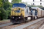 CSXT 7879 (C40-8W) & HLCX 8154 (SD40-2) Built As: BN 8154 (SD40-2) on Q261-03