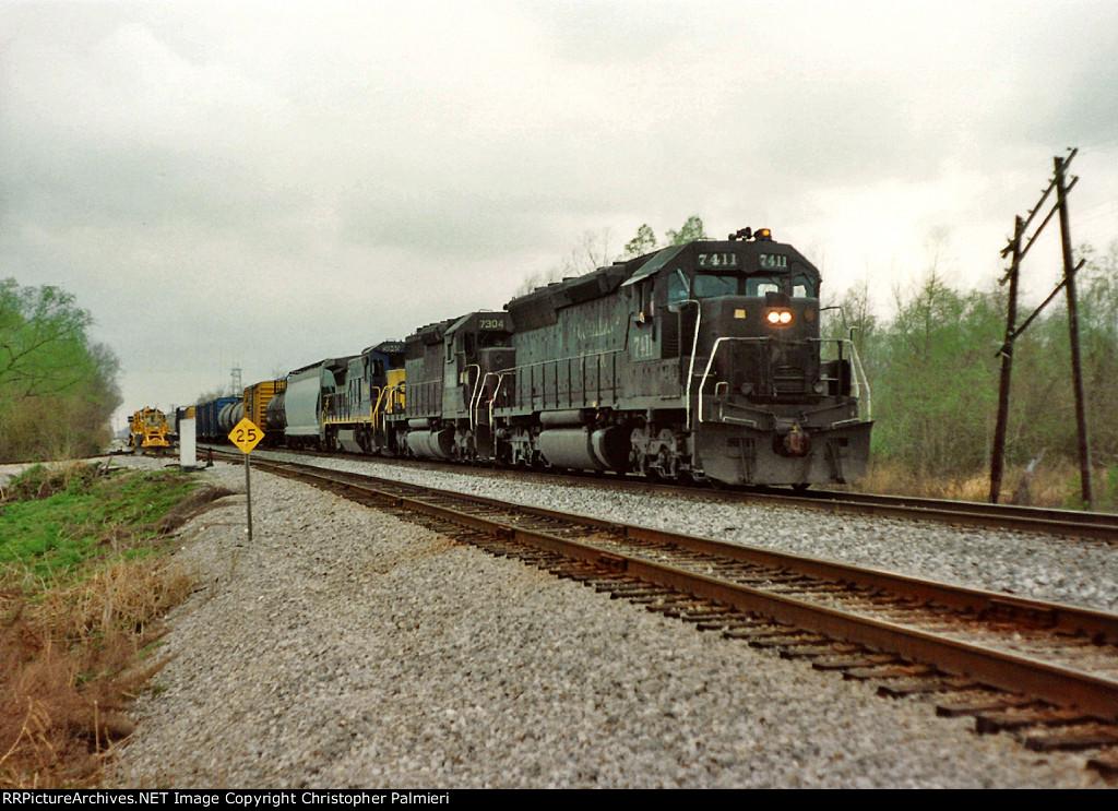 SP 7411 Leads CSX Q-602-27