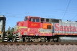 BNSF 520 and its beaten up cab.