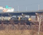 CSX 7862 on Delair Bridge