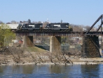 NS 3414 leads H76 up the river