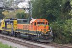 BNSF 2311 heads towards interlocking