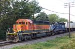 BNSF 7839 with MRL 382 on Eastbound