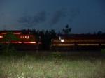 WC 6619 meets UP 6503 at dusk
