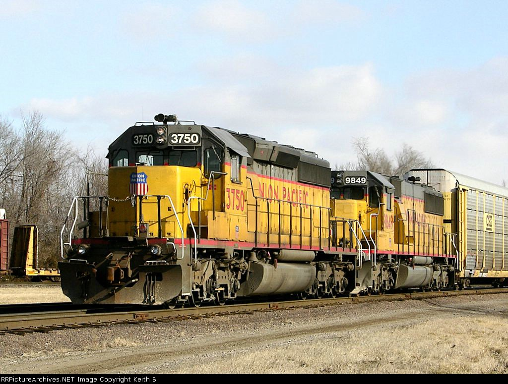 UP 3750 and 9849