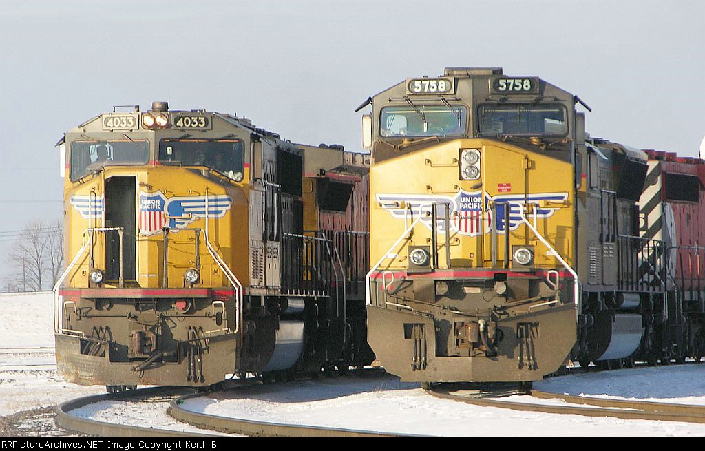 UP 5758 and 4033