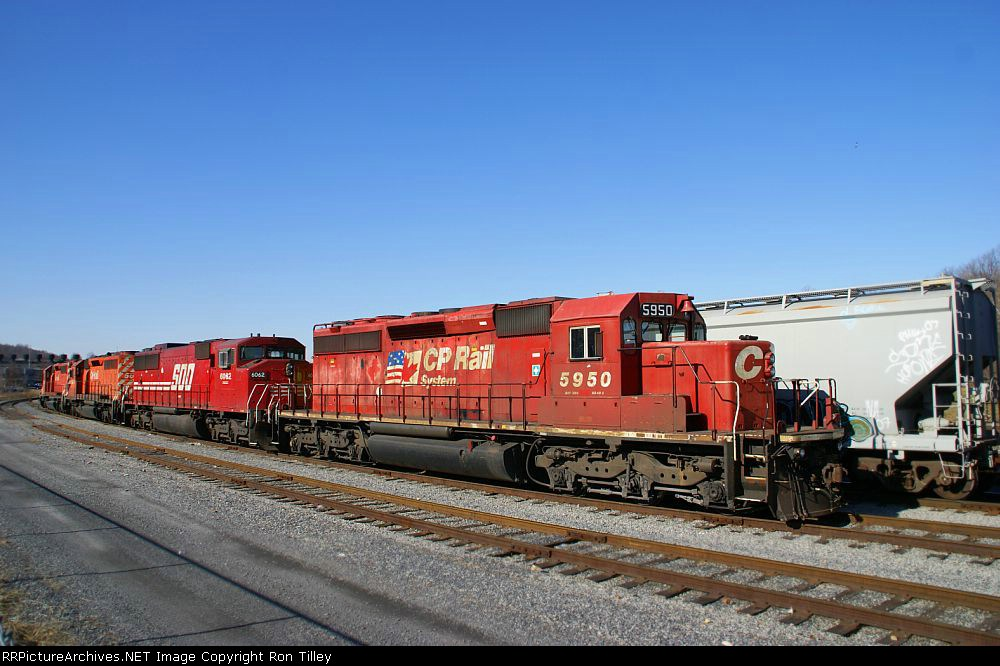CP power idling in the river yard