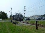 Black River photo freight crosses NJ Route 12